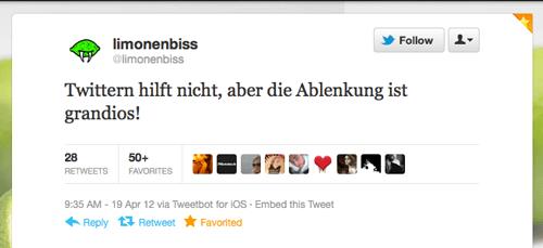 Tweet der Woche von @Limonenbiss