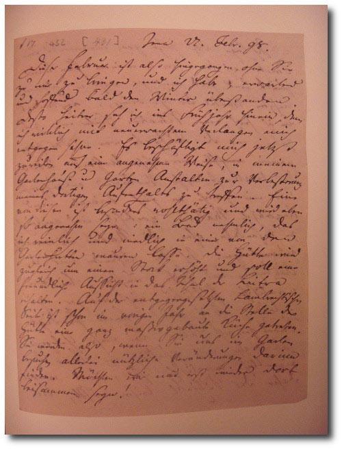 Faksimile: Brief Friedrich von Schiller