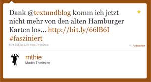 Tweet von mthie zu den Hamburger Karten