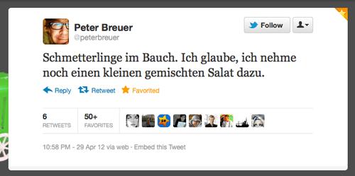 Tweet der Woche von @peterbreuer