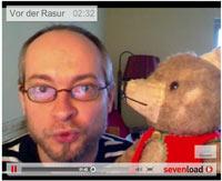 Vorher-Nachher-Rasurvideo mit Bär Martin