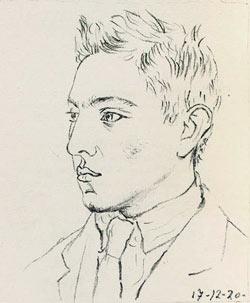 Raymond Radiguet als 17-Jähriger