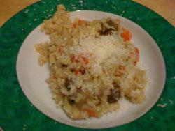 Champignon-Chilli-Paprika-Risotto mit Parmesan