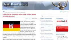 Deutschland-Kraotien-Wette bei Robert Basic