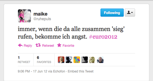 Tweet der Woche von @ruhepuls