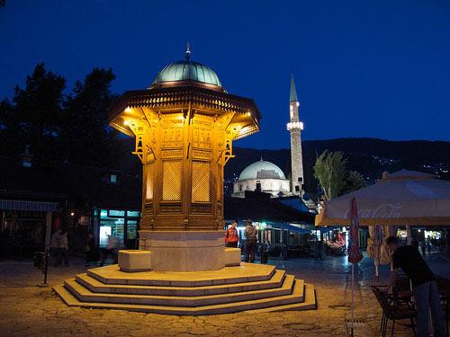 Platz in der Altstadt von Sarajevo