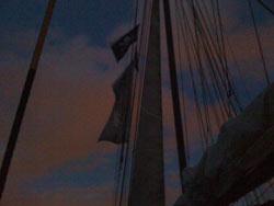 Der Totenkopf am Mast, ein Törn im Zeichen des Fanräume-Projektes