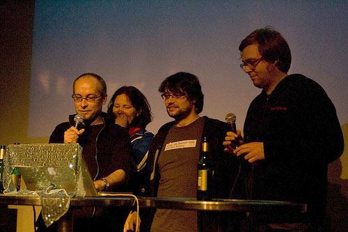 Twitkrit-Team auf der Twitterlesung in Hamburg