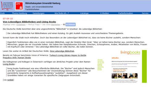 Stabi-Blog, das Blog der Staats- und Universitätsbibliothek Hamburg