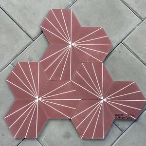 Tile_Marrakech Desings_Dandelion Red