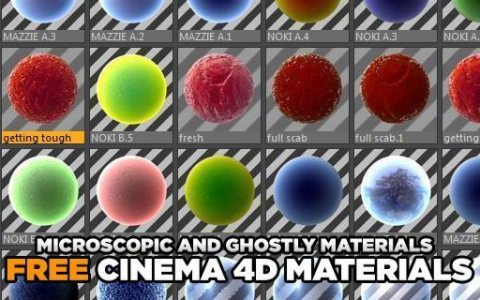 Free Cinema 4D Shader Pack v3 - Free Cinema 4D Textures