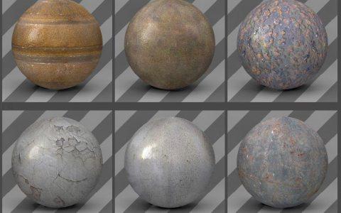 free cinema 4d textures - metal textures 02