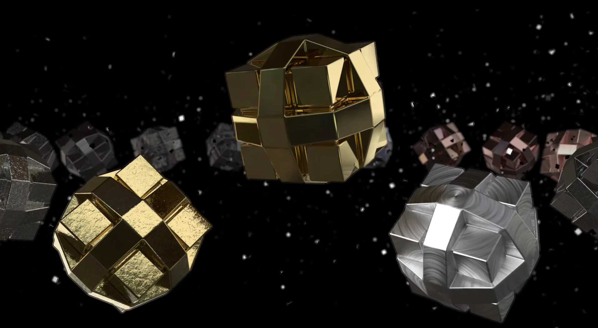 Reflectance Metal Materials - Free Cinema 4D Textures
