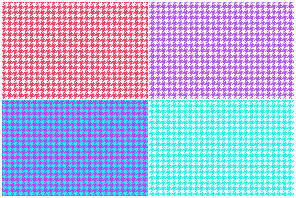 Houndstooth Pattern Preview Set 4