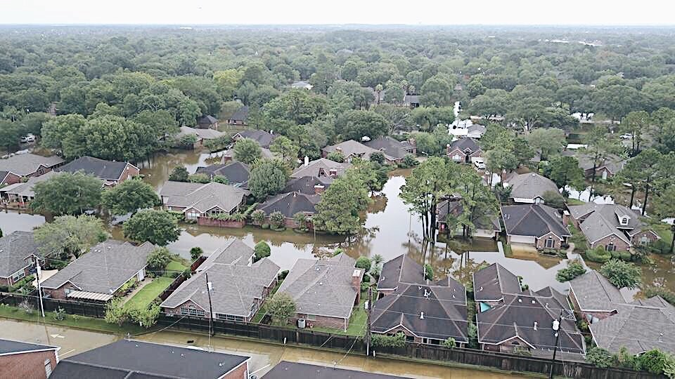 floods, hurricane harvey, homes flooded, houses underwater, natural tragedy