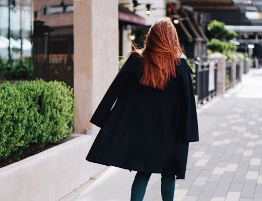 wool coat, winter coats, leopard heels, green ankle pants, red hair inspo