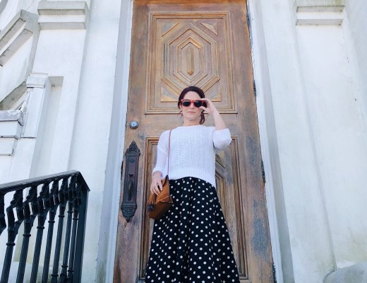 polka dots, sneakers, vans, congac crossbody, red sunglasses, off to europe