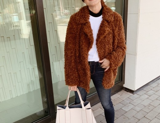 teddy bear jacket, fuzzy coats, how to style a teddy bear coat, fall fashion, casual style