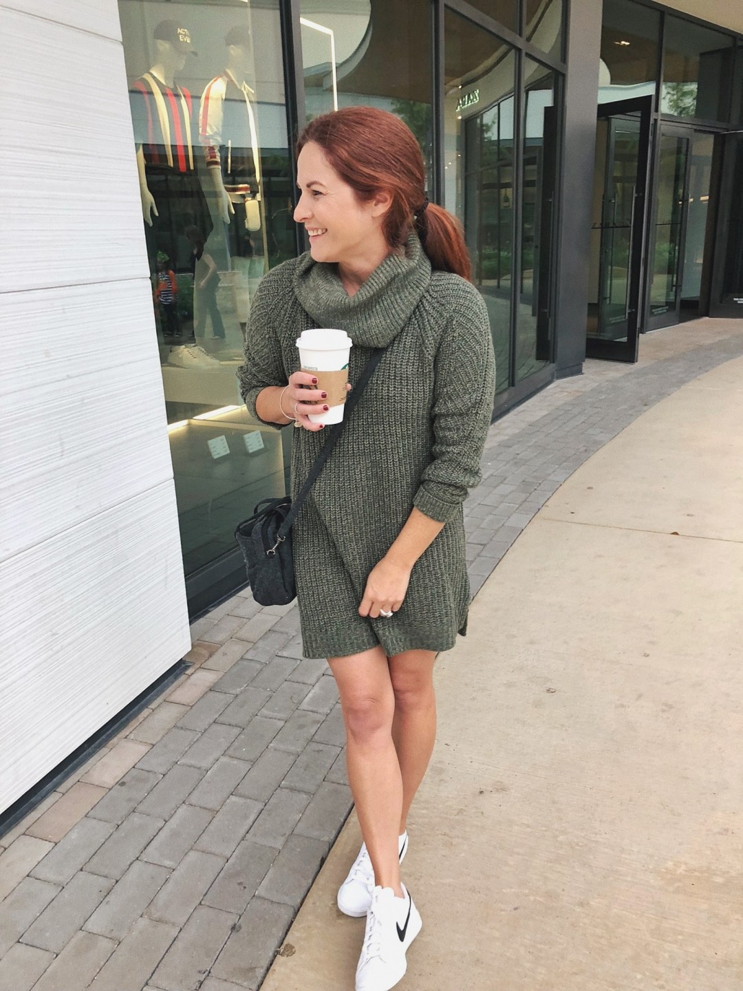 dress with sneaker outfits, sweater dresses, wool crossbody, nike sneaker outfits