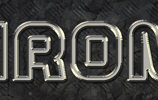 Sparkling Iron Text Effect step 4