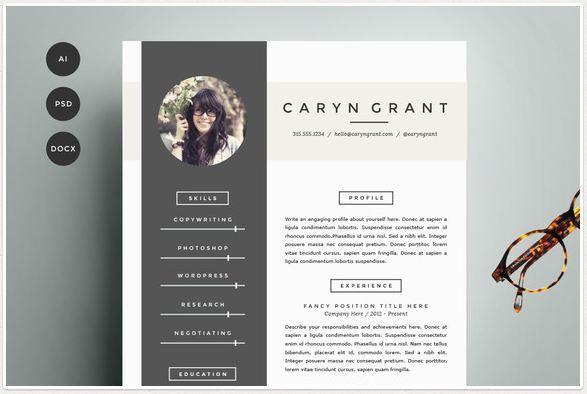creative cv template creative word resume cover letter templates