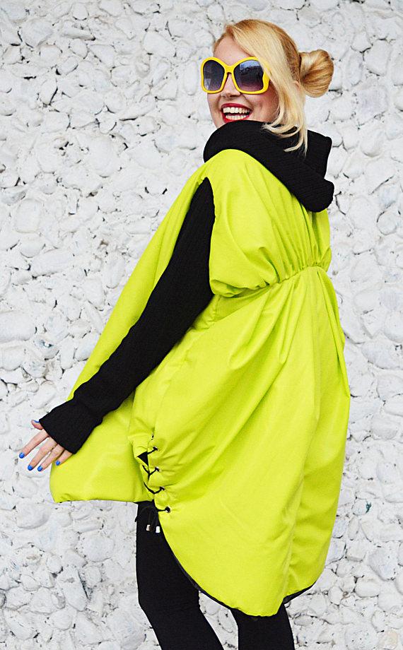lime cocoon hoodie