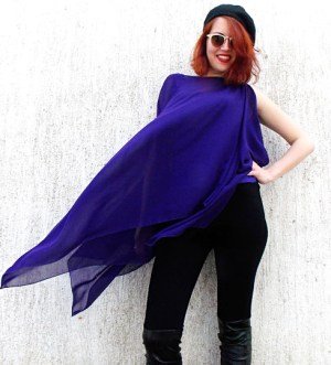 purple asymmetrical top