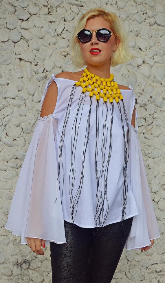 yellow extravagant necklace