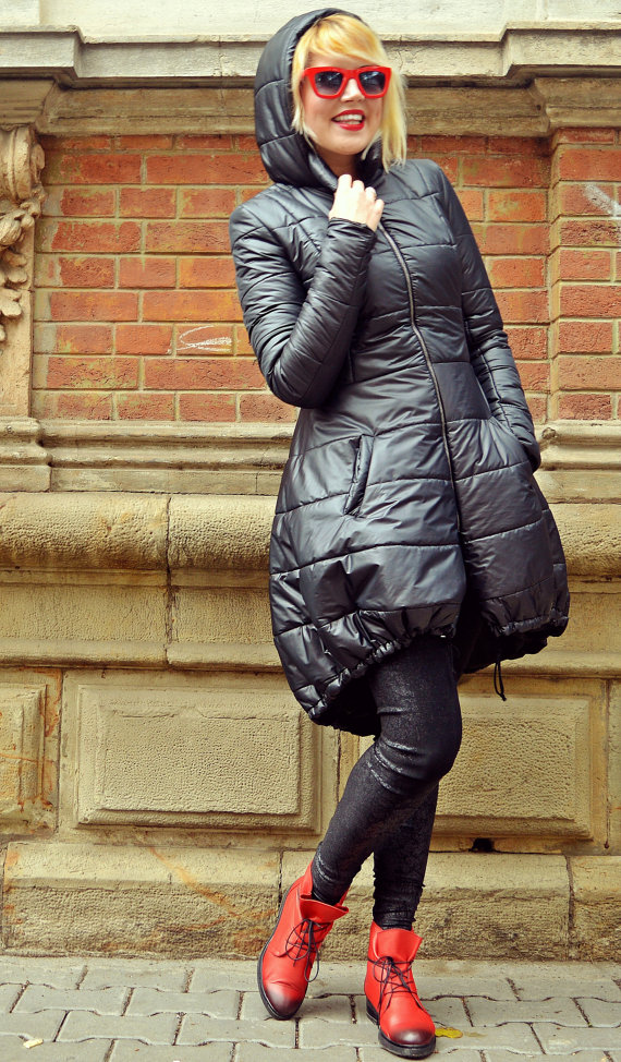 metallic winter coat
