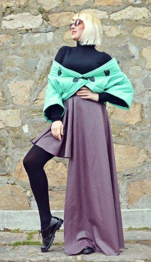 purple leather skirt