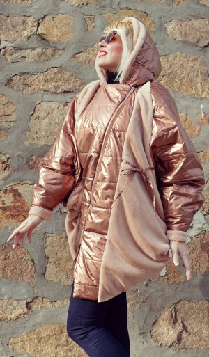 bronze cocoon jacket