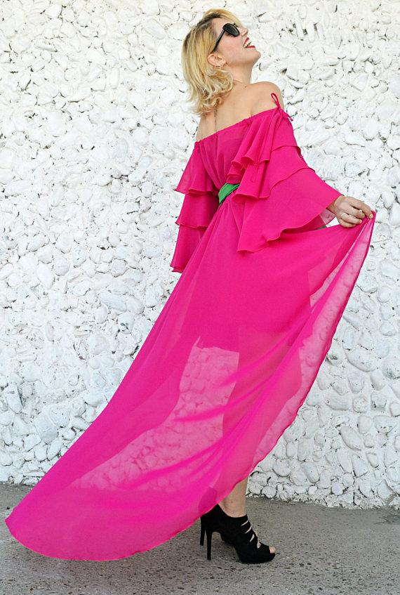 summer chiffon dress