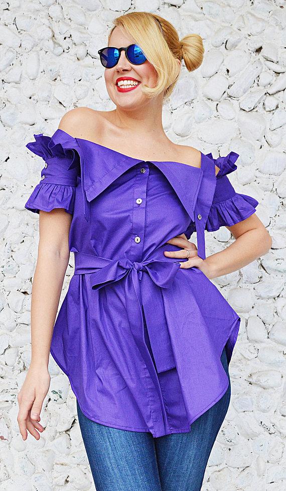 purple cotton top