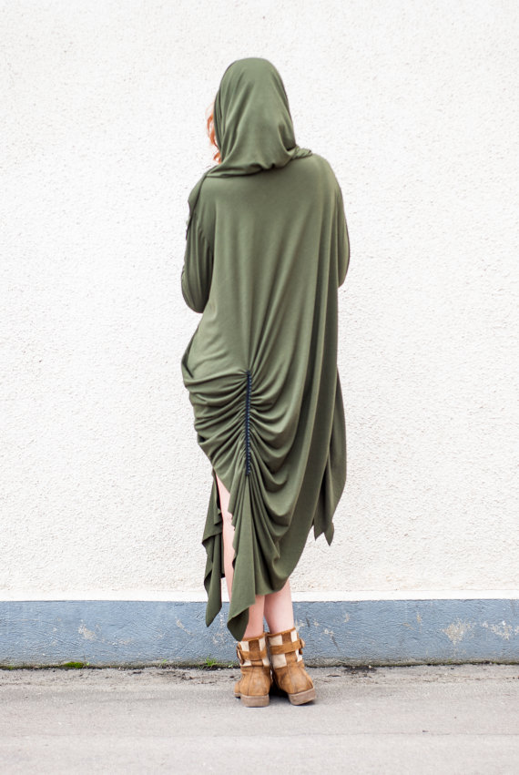 military hooded dress