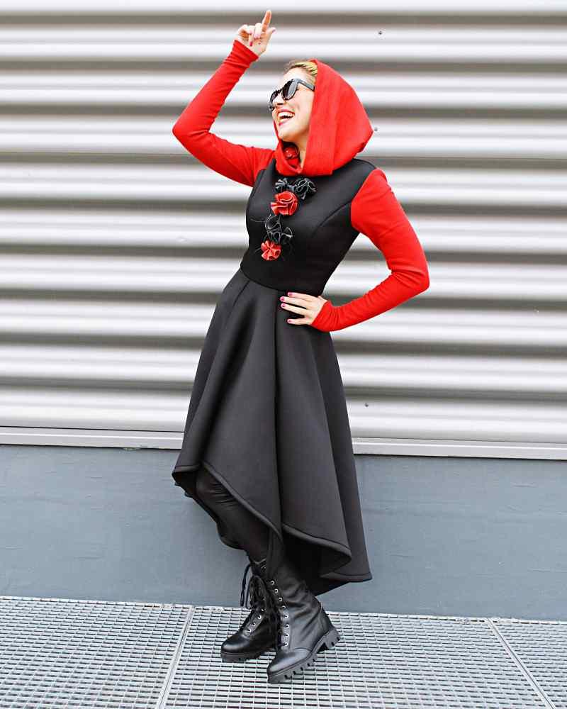 long hooded dress