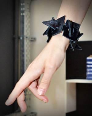 black geometrical bracelet