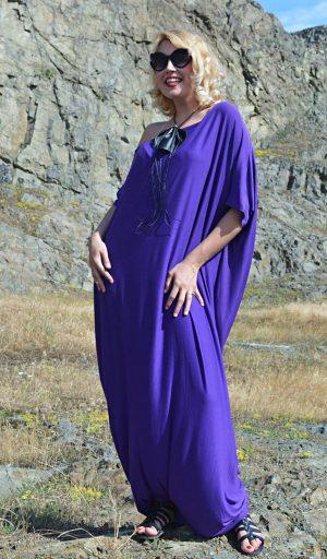 purple maxi jumpsuit