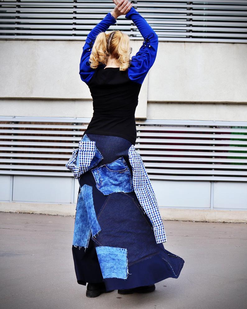 a-line jean skirt