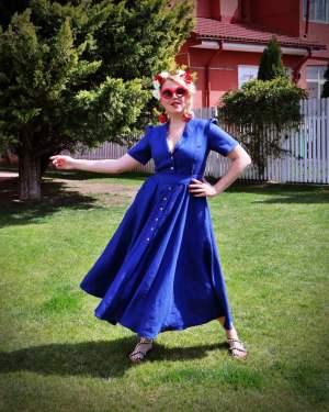 summer linen dress