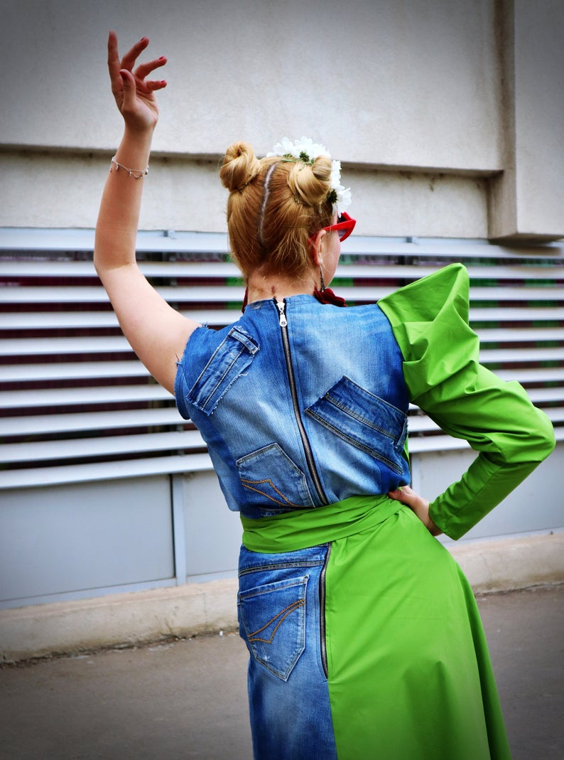 hipster jean dress