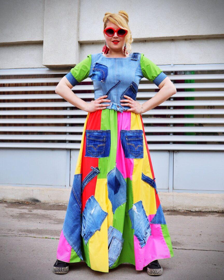maxi jean dress