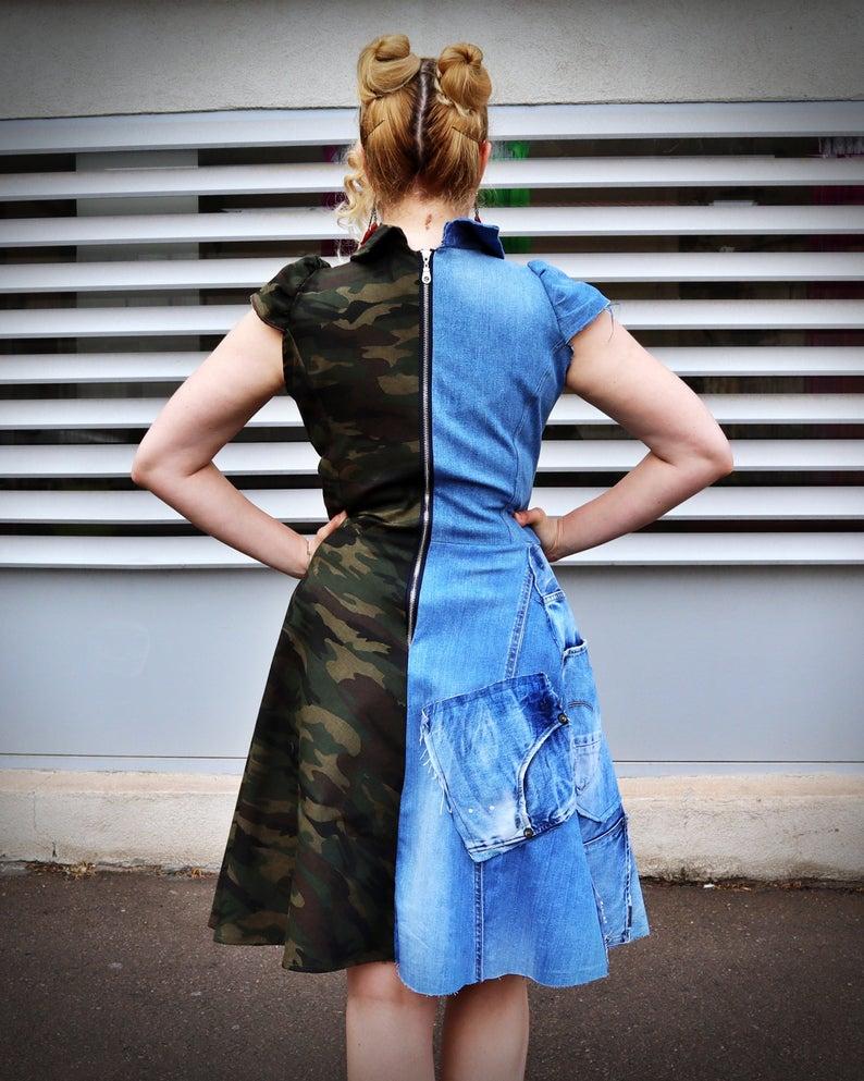 half and half dress