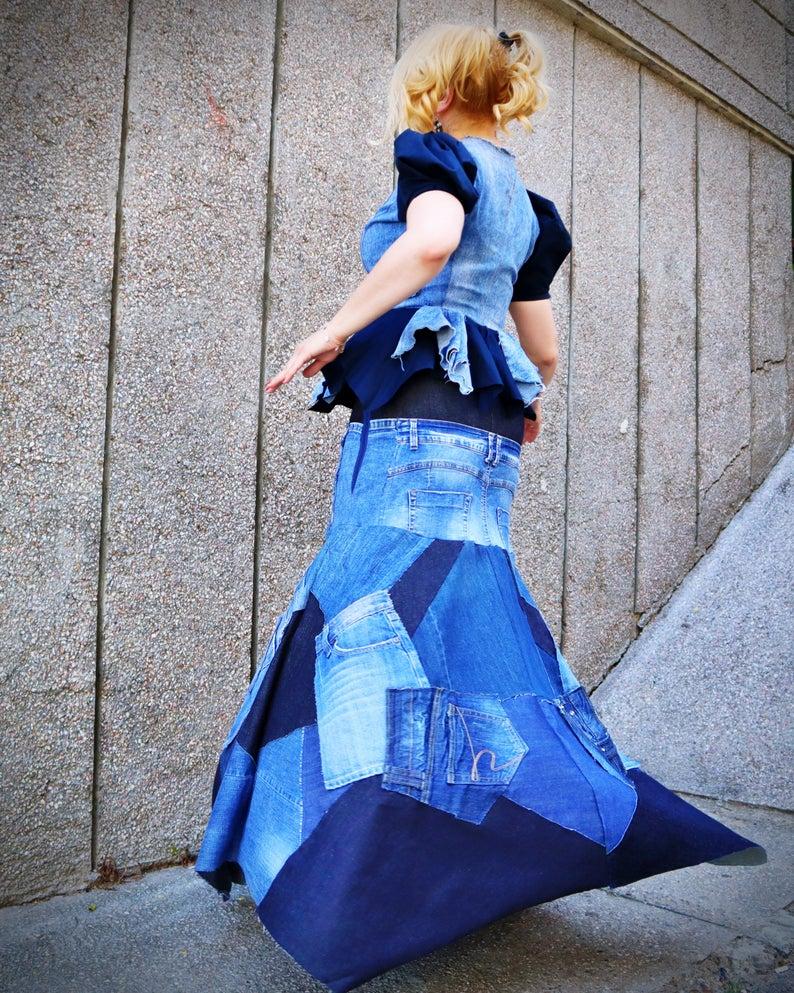 distressed skirt