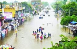 सीकर में तेज़ बारिश, बाढ़ के हालात