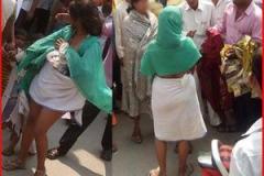 पुलिस स्टेशन के सामने निर्वस्त्र हुई तीन महिलाएं !
