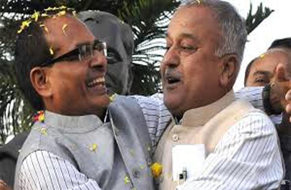 Nandkumar Singh Chauhan WITH Shivraj Singh Chauhan