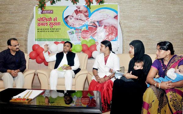 Launch injectables polio vaccine akhilesh yadav uttar pradesh