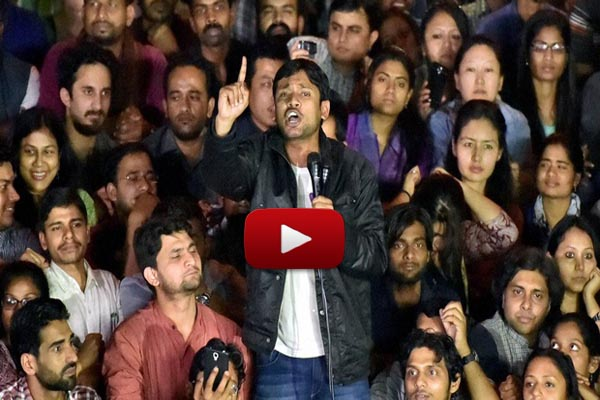JNU Leader Kanhaiya Kumar, After Release at JNU Campus