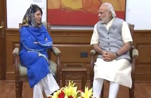 mehbooba mufti & narendra modi
