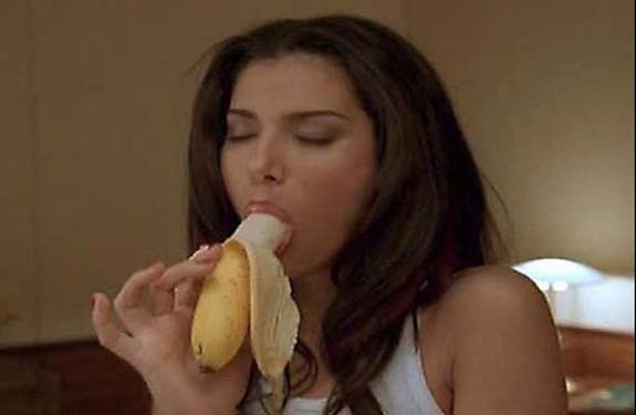 eating banana in sexy style